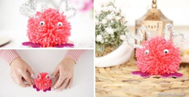Adorable DIY Pom Pom Valentine's Monster Craft