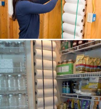 pantry wall paper towels storage