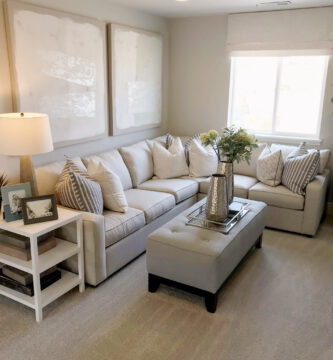 6 Tips For Recreating This Room. Light And Bright Living Room Get The Look At Remodelaholic.com